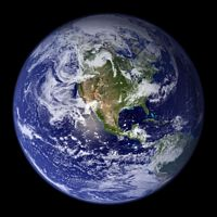 Earth from space (public domain image)